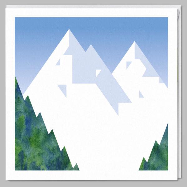 product square card chamonix mont blanc a