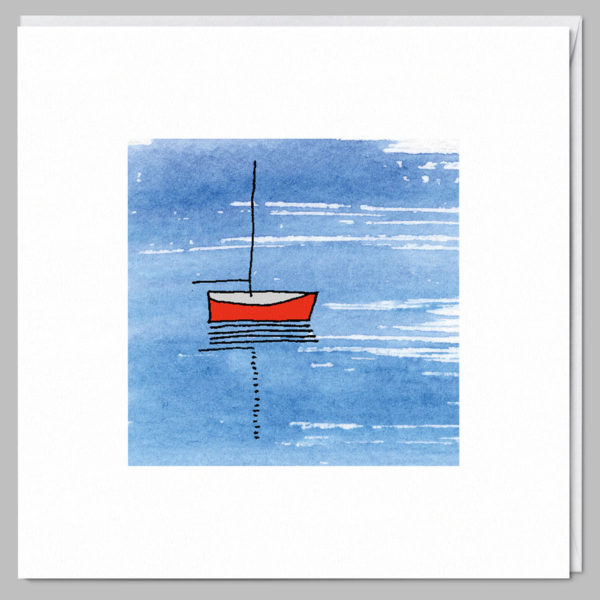 product square card red boat a