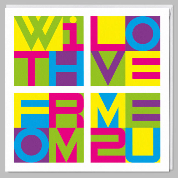product square card with love from me to you a