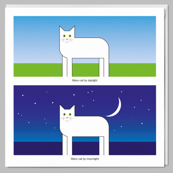 product square card manx cat a