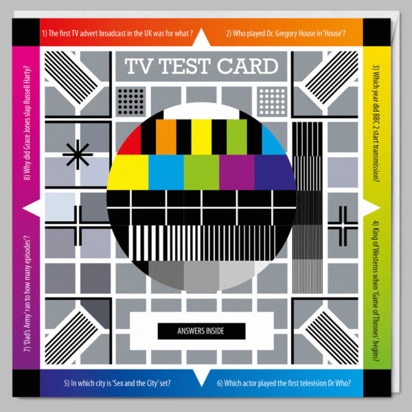 product square card tv test card a