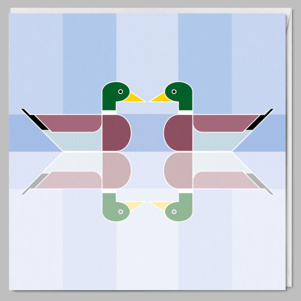 product square card upon reflection a